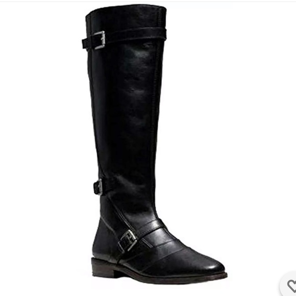 Coach Lawrencia Tumbled Glazed Riding Boots